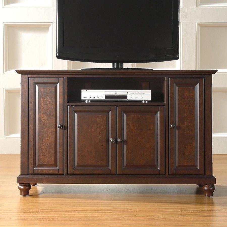 Crosley Furniture Cambridge Vintage Mahogany Rectangular Television Cabinet