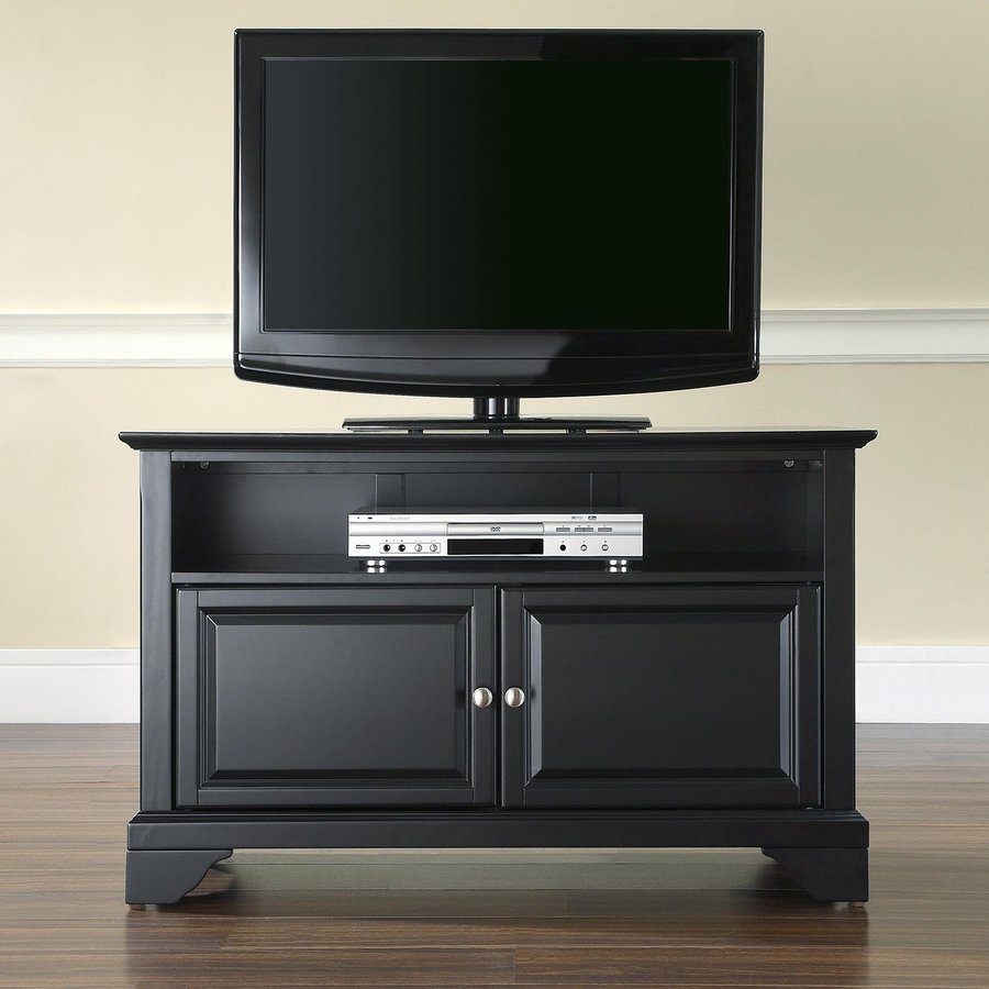 Crosley Furniture Lafayette Black Rectangular Television Cabinet