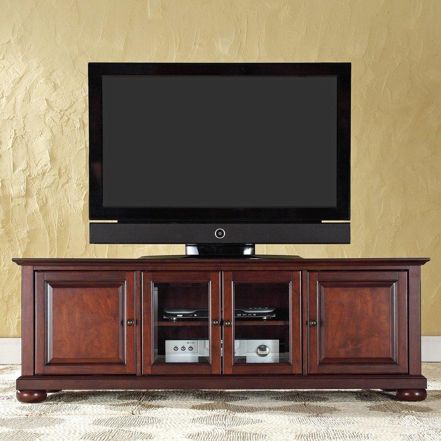 Crosley Furniture Alexandria Vintage Mahogany Rectangular Television Cabinet