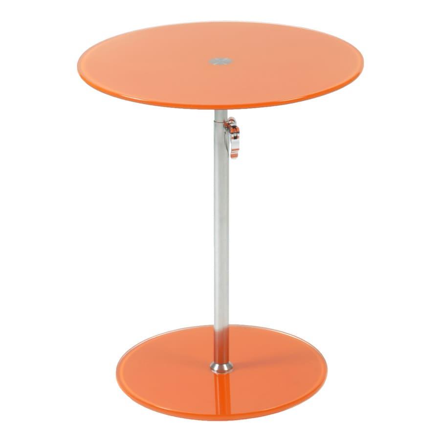 Eurostyle Radinka Chrome/Orange Round Adjustable-Height Dining Table
