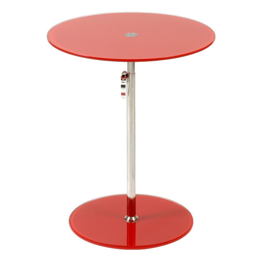 Shop Eurostyle Radinka Chrome Red Round Adjustable Height