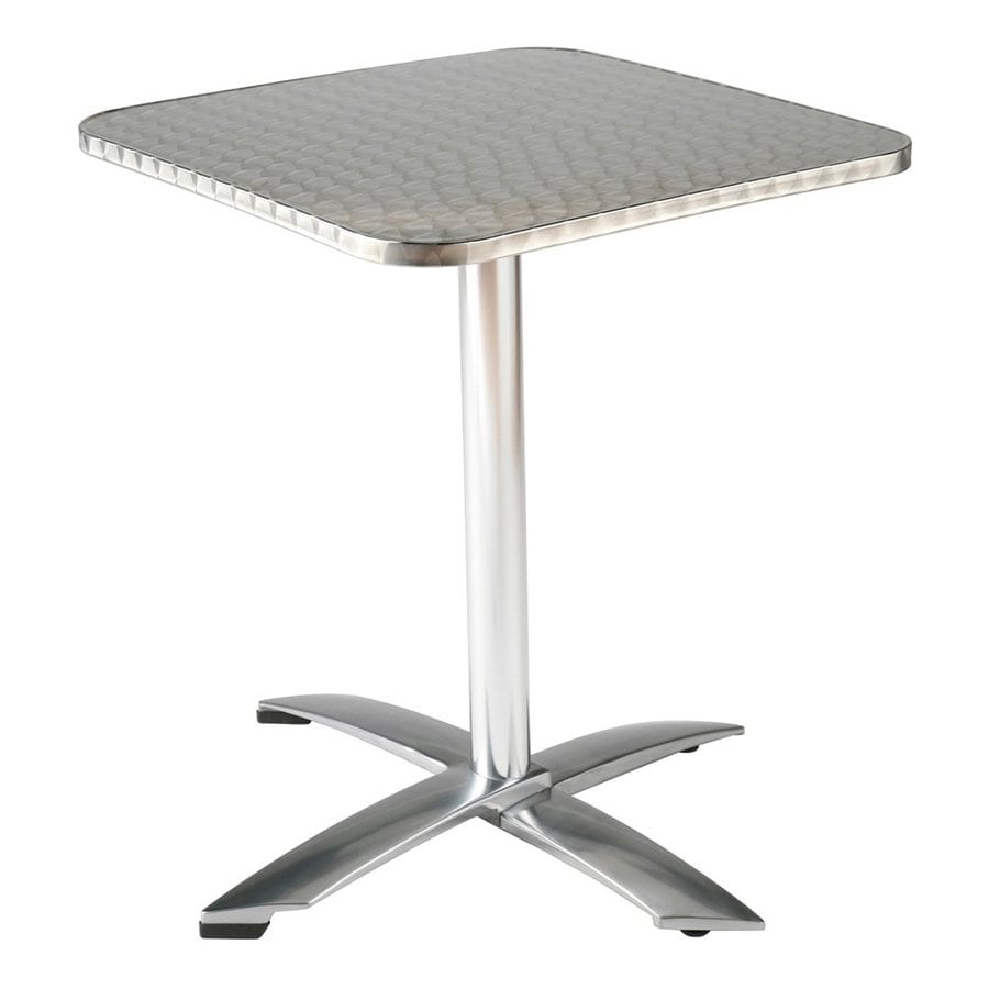 Shop eurostyle arden stainless steel aluminum square for Stainless steel dining table