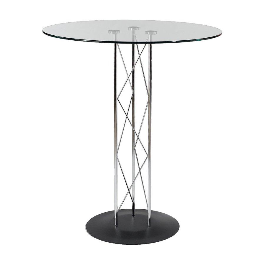 Eurostyle Trave-B Chrome/Black Round Dining Table