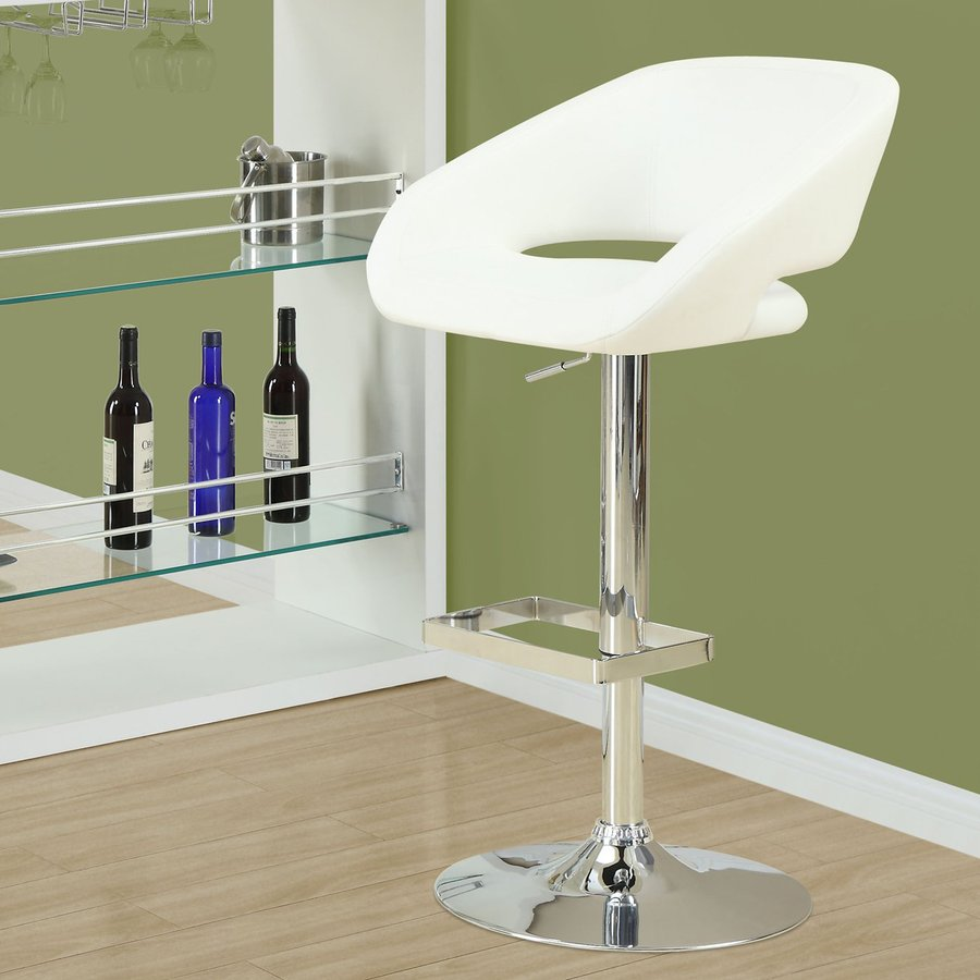 Monarch Specialties Chrome 28-in Adjustable Stool