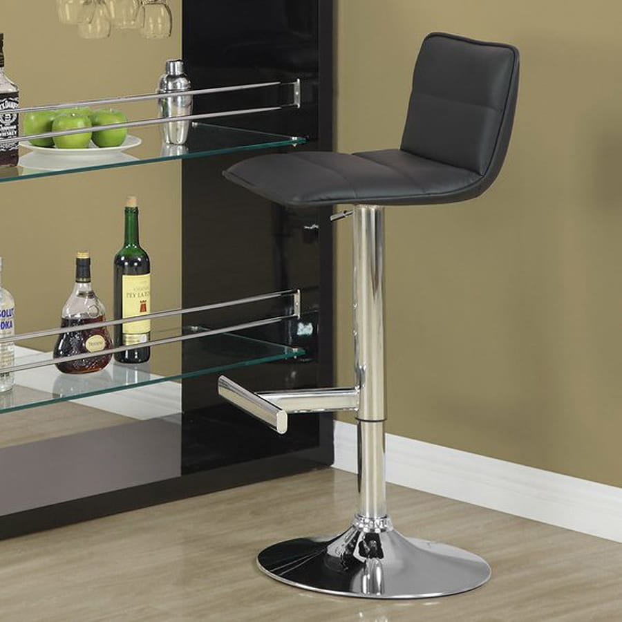 Monarch Specialties Set of 2 Chrome 28-in Adjustable Stool