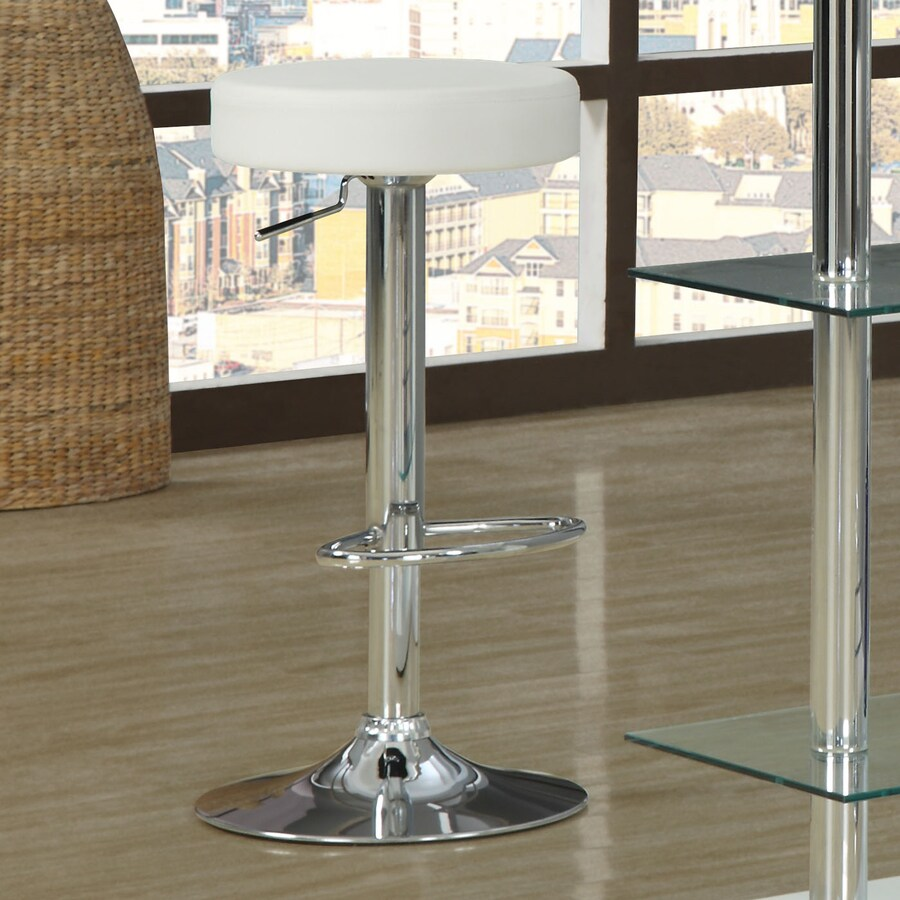 Monarch Specialties Set of 2 Chrome 29-in Counter Stool