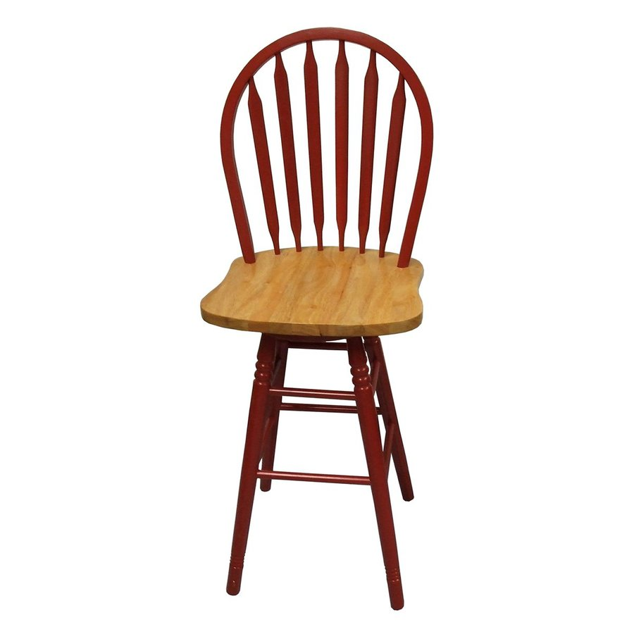 TMS Furniture Arrowback Red/Natural 30-in Bar Stool