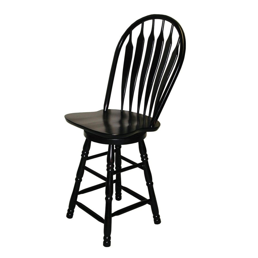 Sunset Trading Sunset Selections Antique Black 24-in Counter Stool