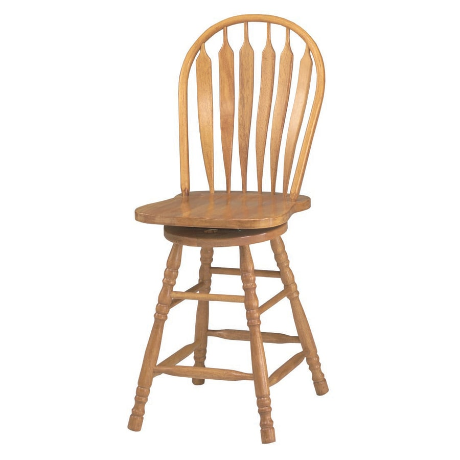 ... Trading Sunset Selections Light Oak 24-in Counter Stool at Lowes.com
