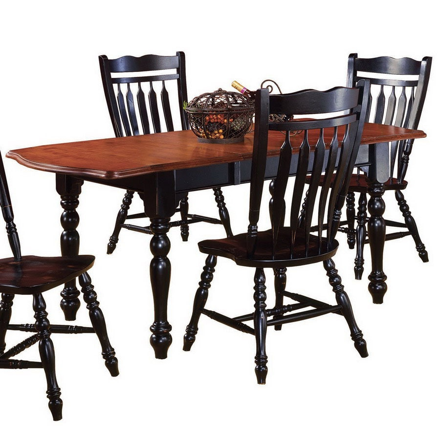 Selections Cherry Antique Black Rectangular Dining Table At