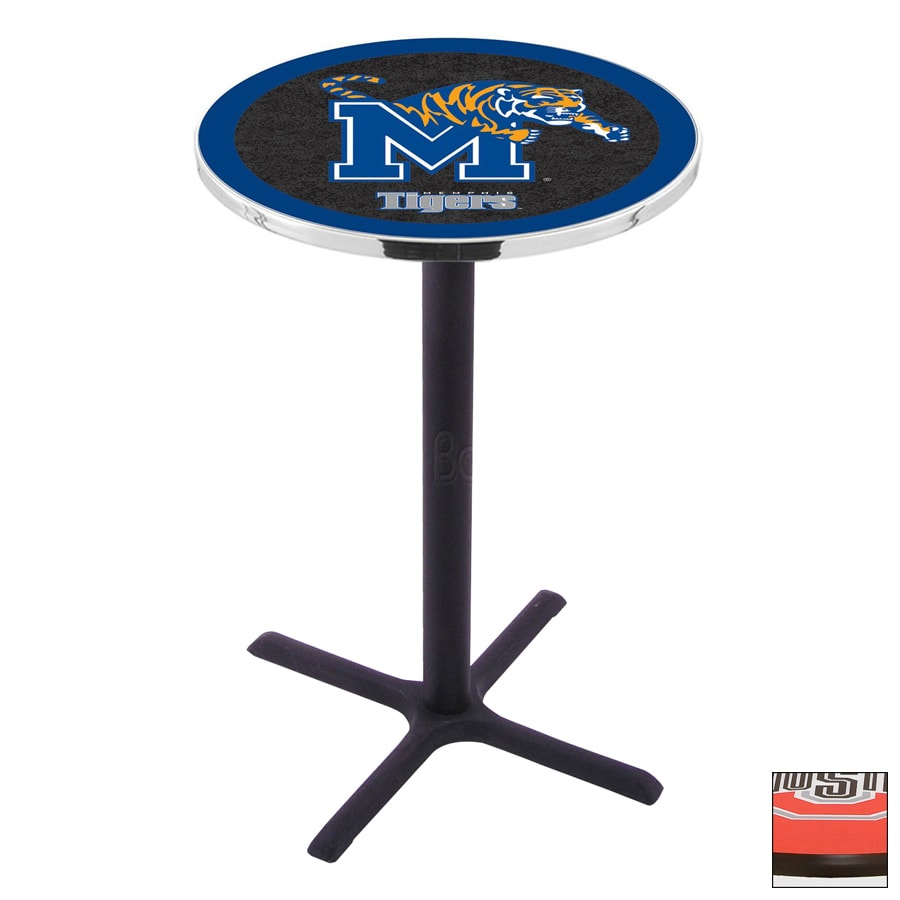 Shop Holland University of Memphis Black Wrinkle Round Dining Table at ...
