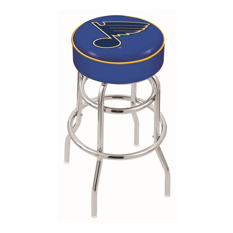 Holland St Louis Blues Chrome 30-in Bar Stool