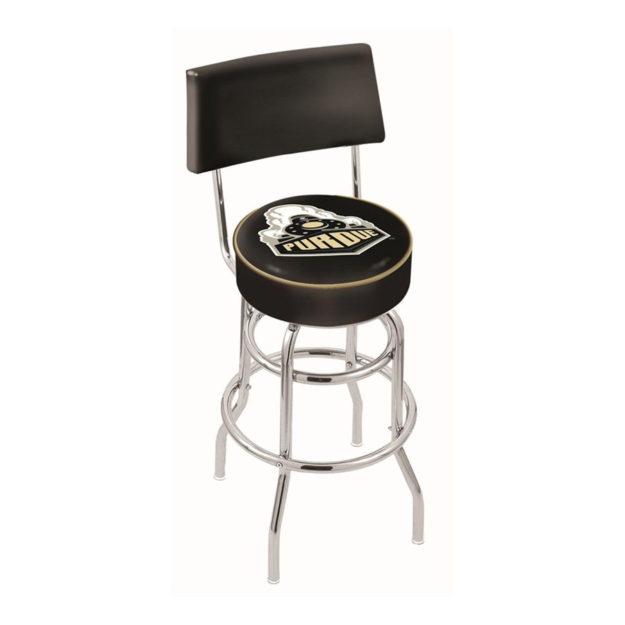 Holland Purdue Boilermakers Chrome 30-in Bar Stool