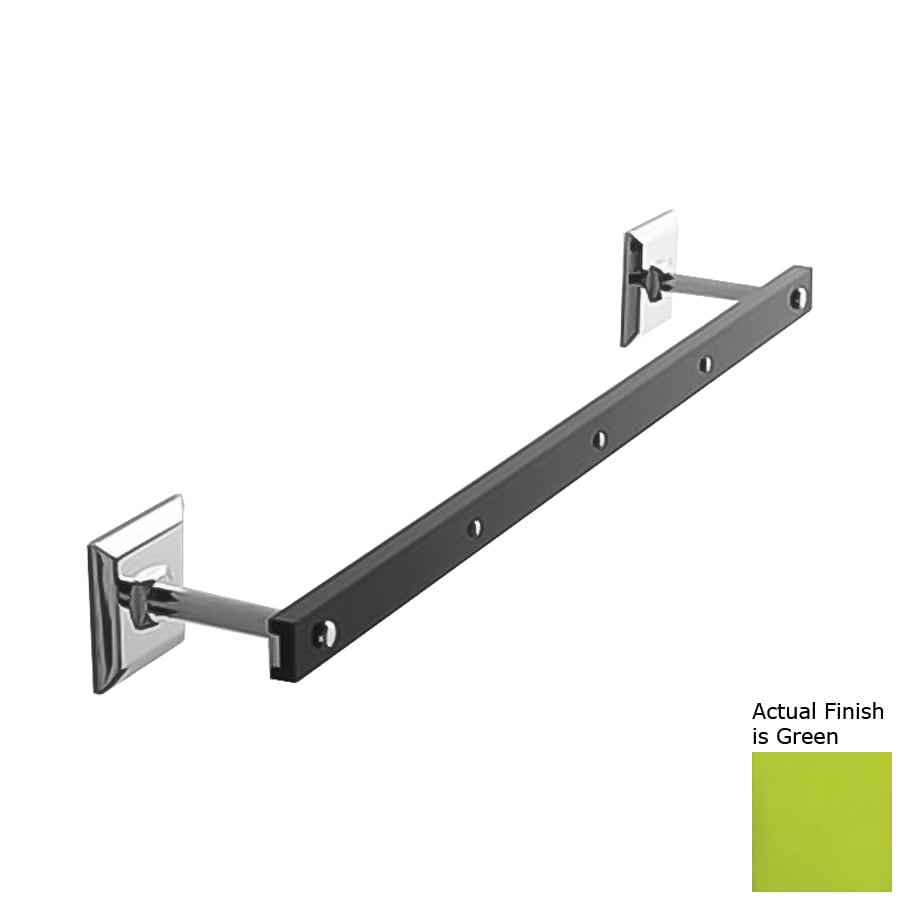 Nameeks Grip Green Single Towel Bar (Common: 13-in; Actual: 13.58-in)
