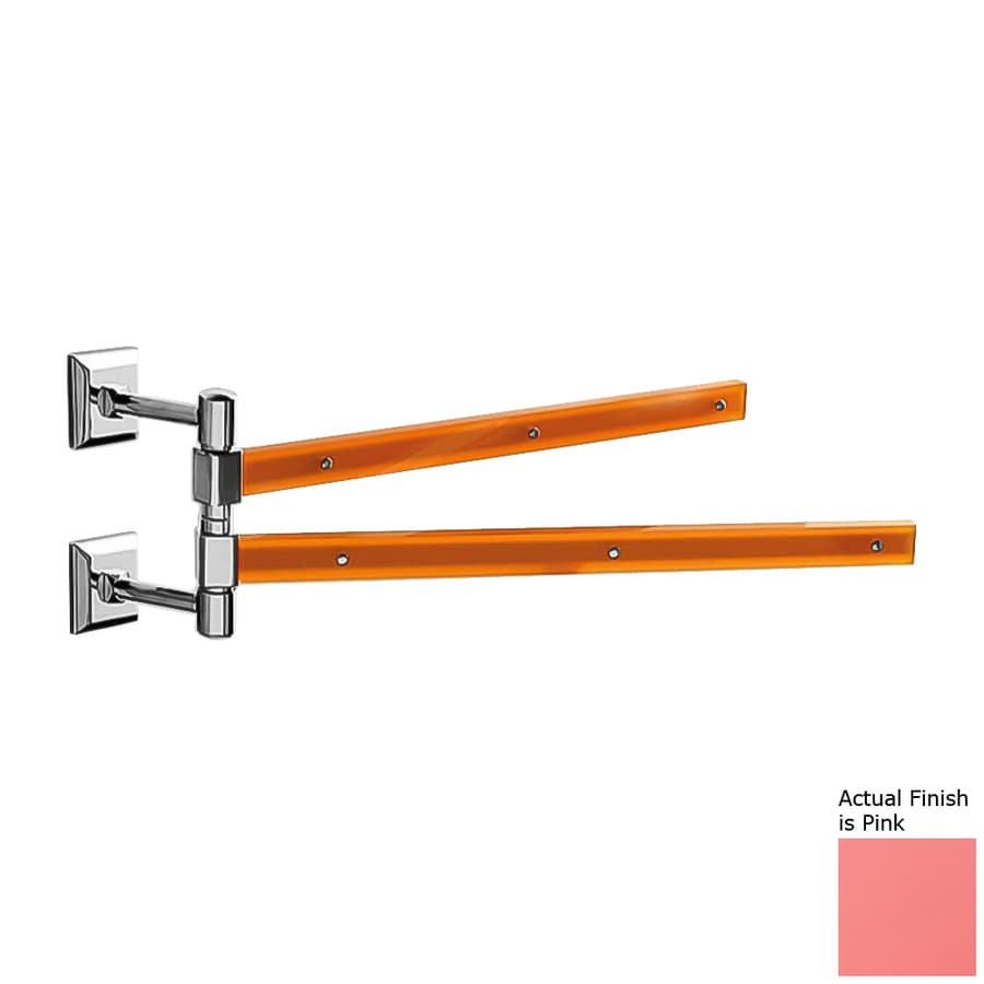 Nameeks Grip Pink Double Towel Bar (Common: 15-in; Actual: 15.16-in)
