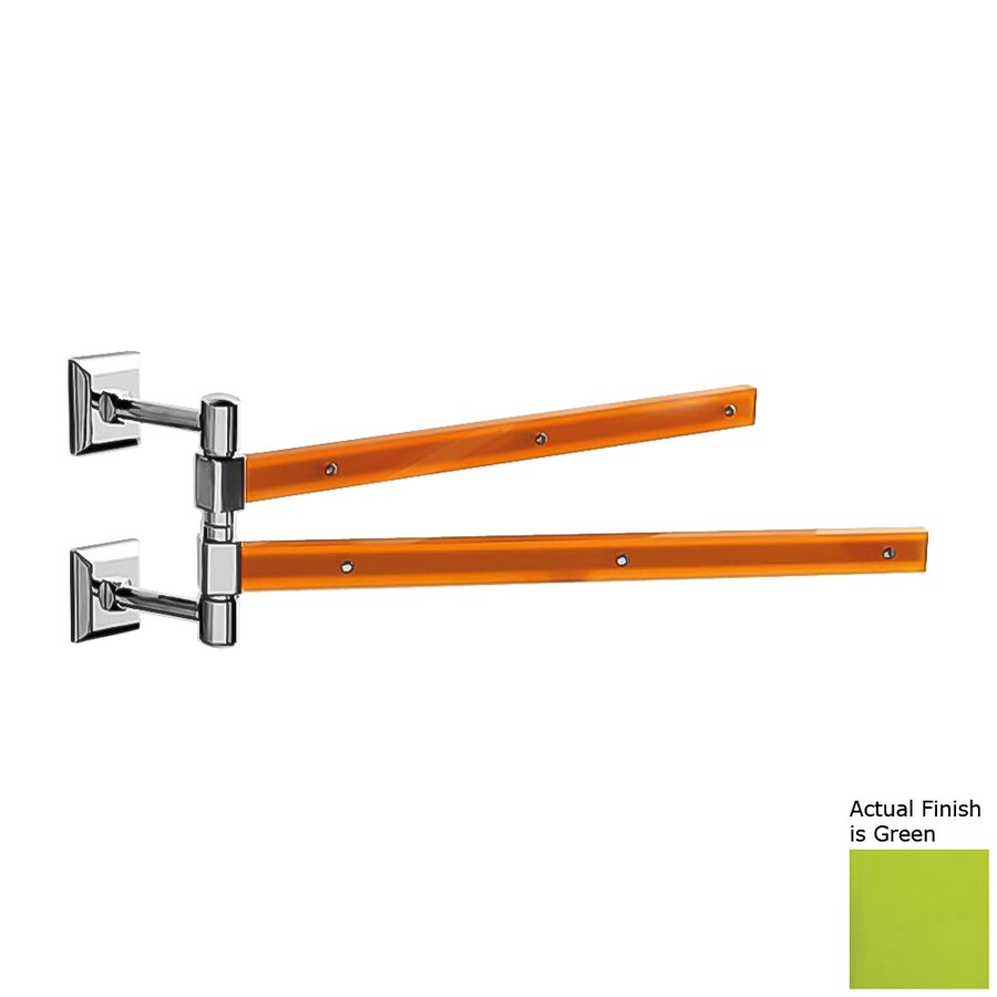 Nameeks Grip Green Double Towel Bar (Common: 15-in; Actual: 15.16-in)