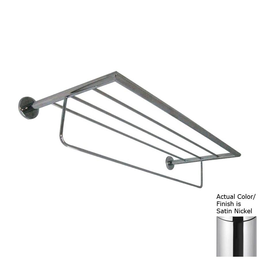 Nameeks Fluyd Satin Nickel Rack Towel Bar (Common: 24-in; Actual: 23.62-in)