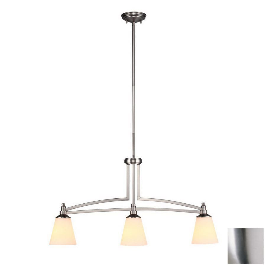 DVI Georgetown 5-in W 3-Light Buffed Nickel Kitchen Island Light with Shade