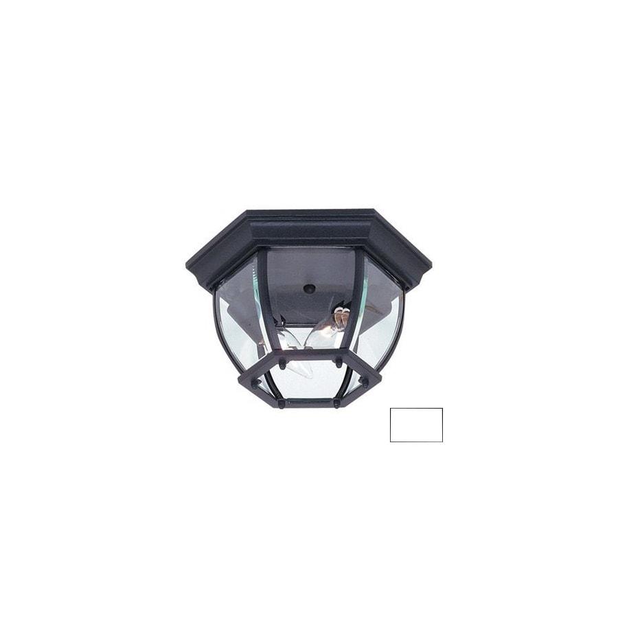 Artcraft Lighting Classico 10-3/4-in White Outdoor Flush Mount Light