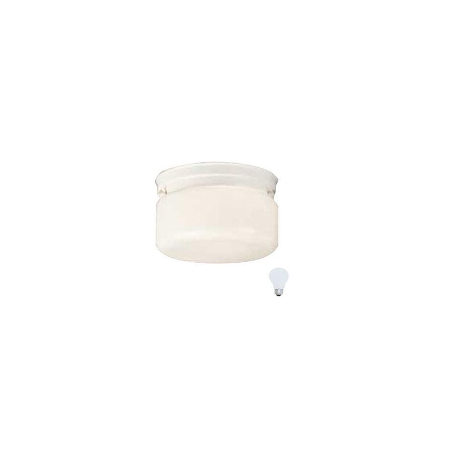 Volume International 8-3/4-in White Outdoor Flush Mount Light