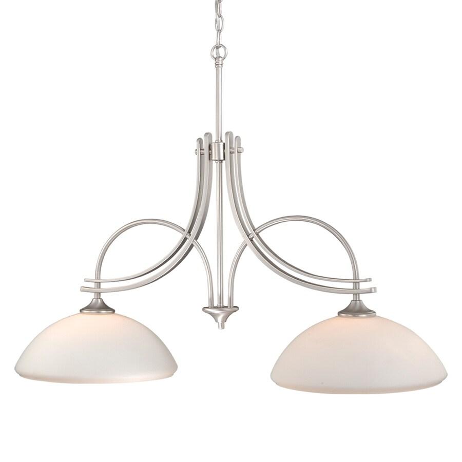shop cascadia lighting sebring 13 5 in w 2 light brushed