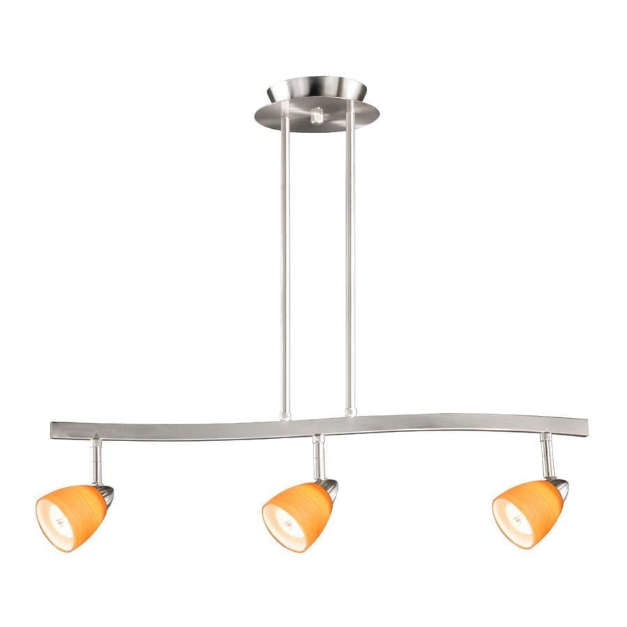 Cascadia Lighting Veneto 3-in W 3-Light Satin Nickel Kitchen Island Light with Shade