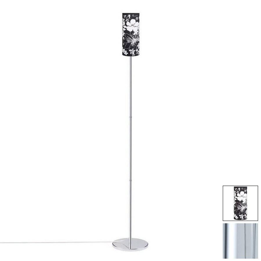 Paulmann 64-1/8-in Chrome Floor Lamp with Fabric Shade