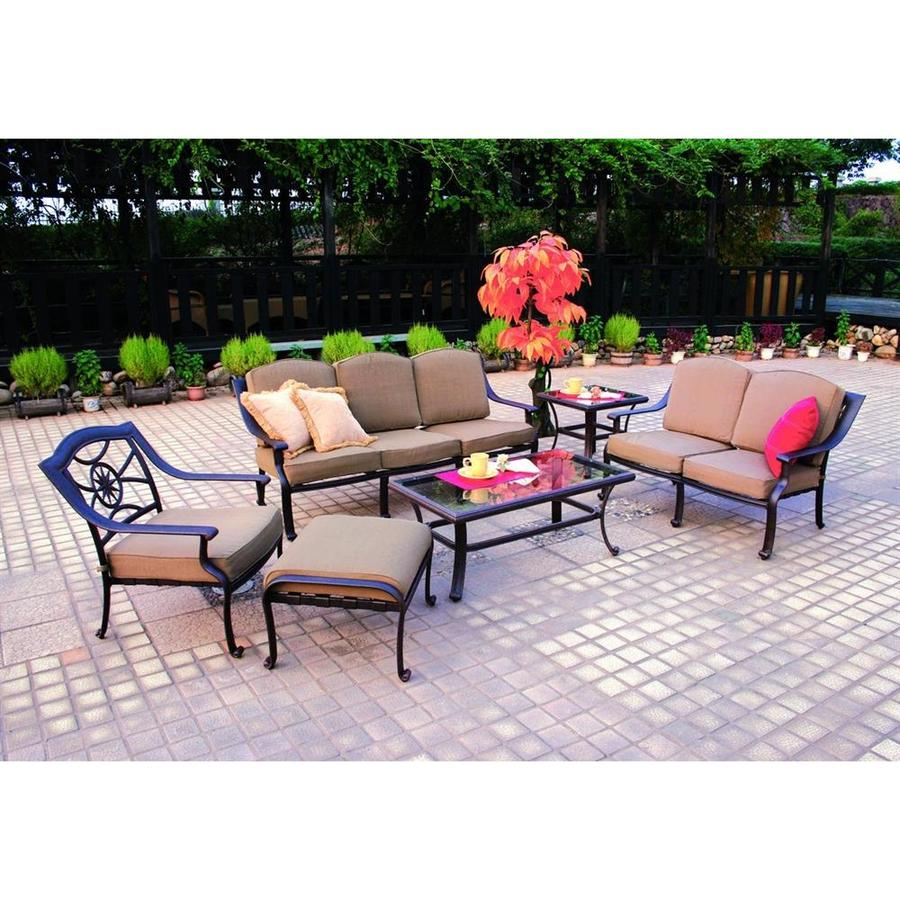 shop darlee ten star 6 piece aluminum patio conversation