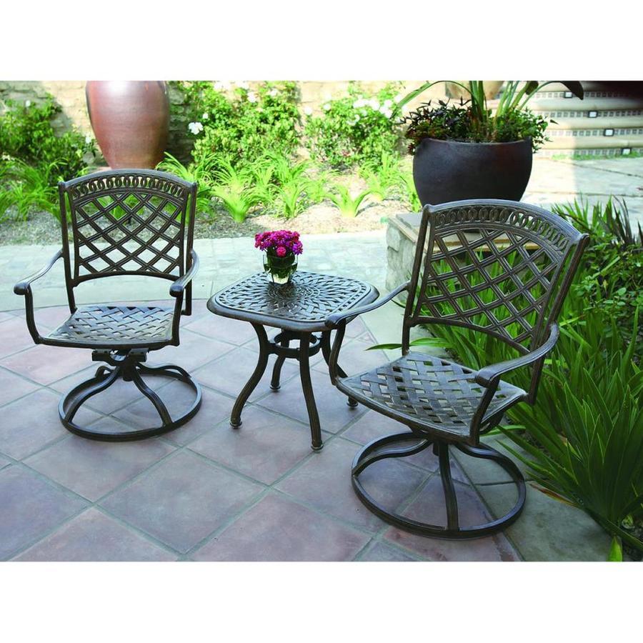 Shop darlee sedona 3 piece aluminum patio conversation set for Patio conversation sets