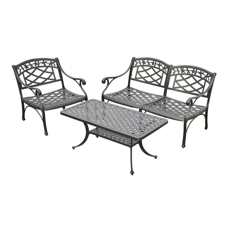 Crosley Furniture Sedona 3-Piece Aluminum Patio Conversation Set