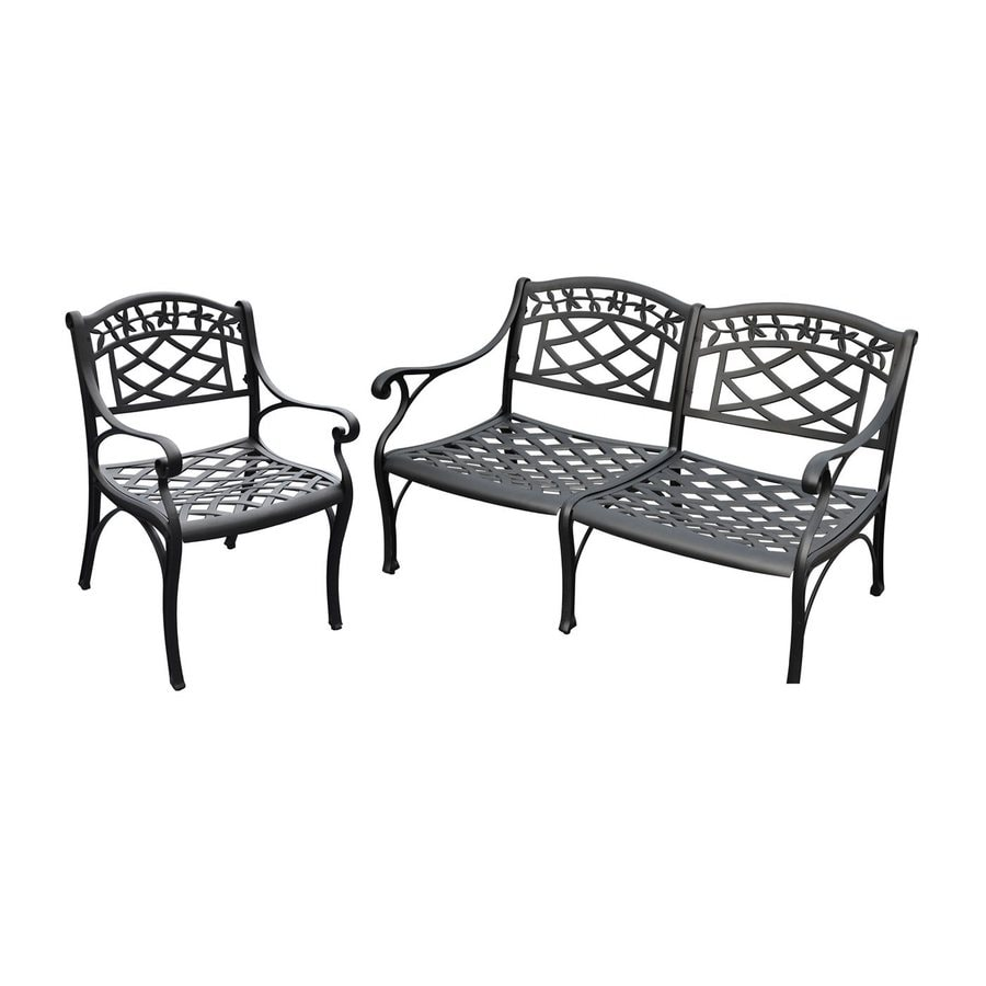 Crosley Furniture Sedona 2-Piece Aluminum Patio Conversation Set