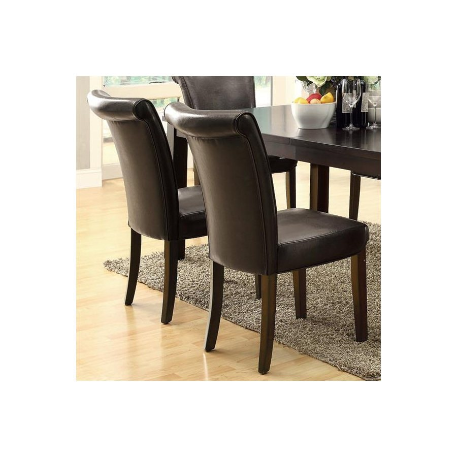 Monarch Specialties Set of 2 Cappuccino Side Chair