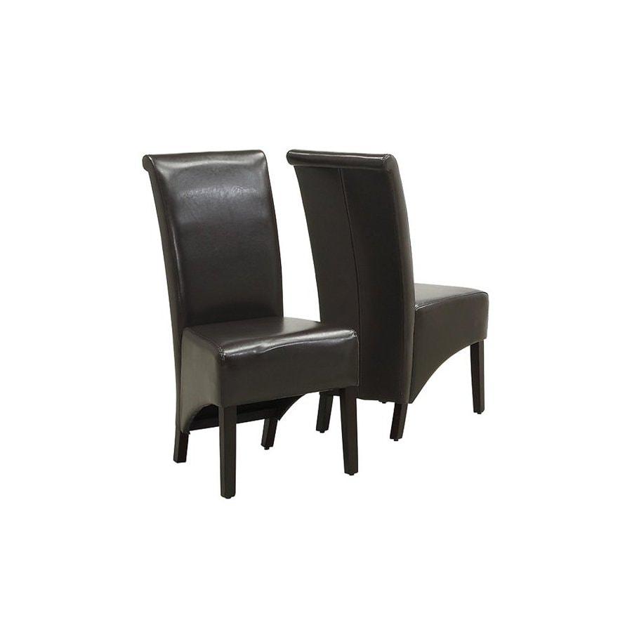 Monarch Specialties Set of 2 Dark Espresso Side Chair