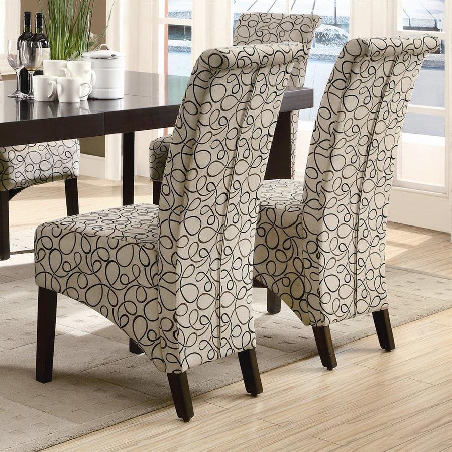 Monarch Specialties Set of 2 Walnut Side Chair
