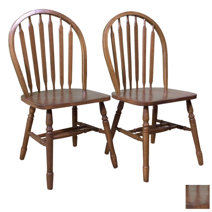 TMS Furniture Set of 2 Arrowback Oak Side Chairs
