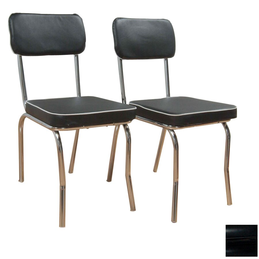 TMS Furniture Set of 2 Retro Chrome Side Chairs