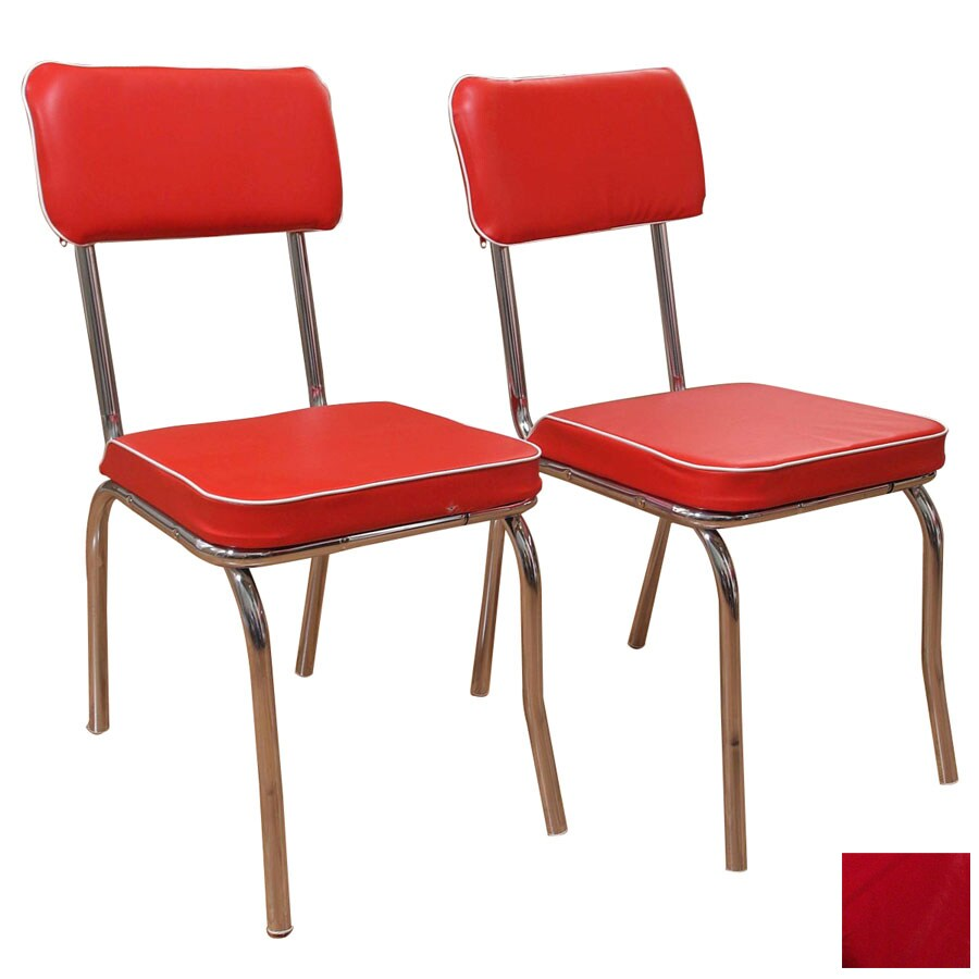Shop TMS Furniture Set Of 2 Retro Chrome Side Chairs At