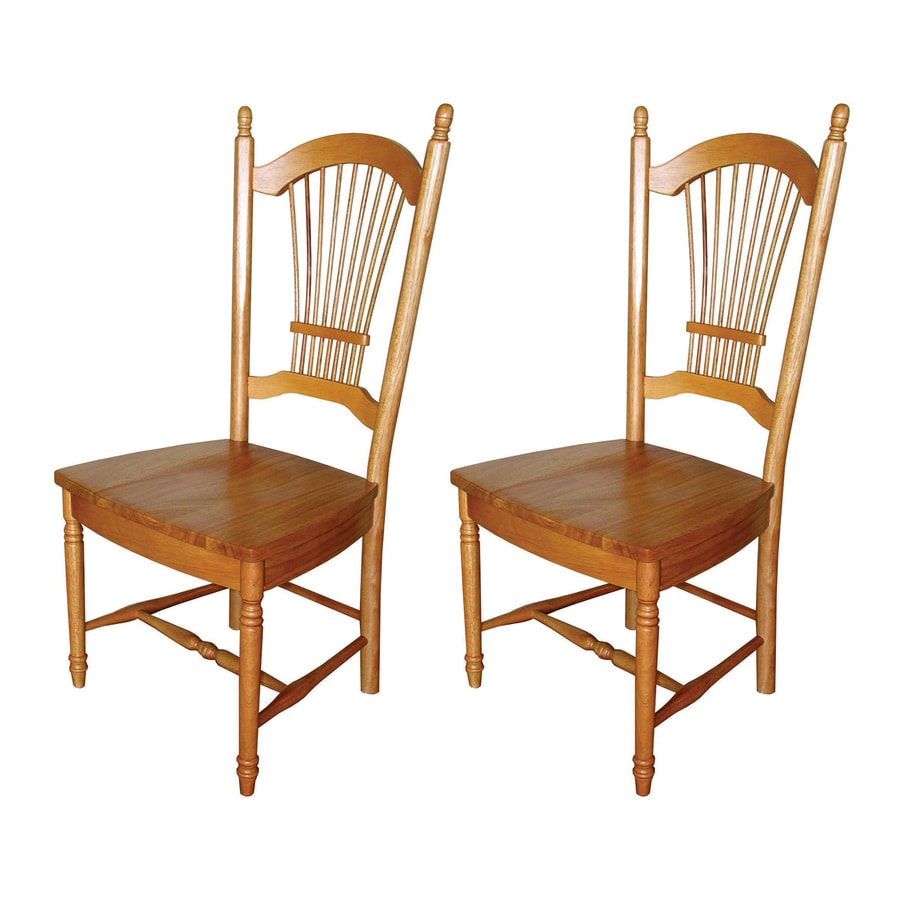 Sunset Trading Set of 2 Allenridge Light Oak Side Chairs
