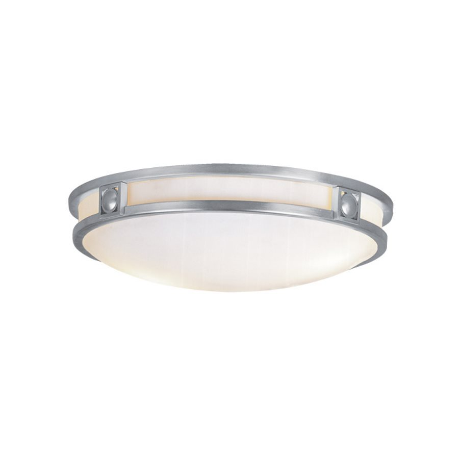 Livex Lighting Titania 16-in W Brushed Nickel Ceiling Flush Mount Light