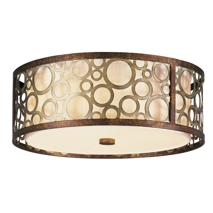 Livex Lighting Avalon 14-in W Palacial Bronze Ceiling Flush Mount Light