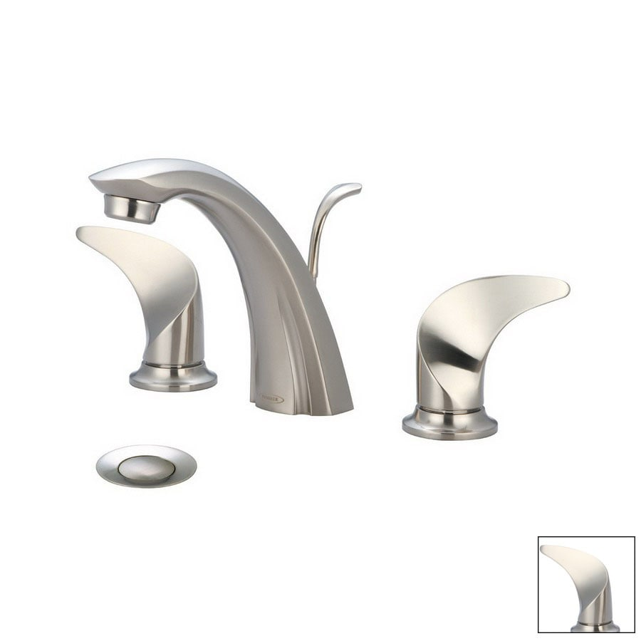 Bathroom Faucets Brushed Nickel Widespread : ... Brushed Nickel 2-Handle Widespread Bathroom Faucet (Drain Included) at