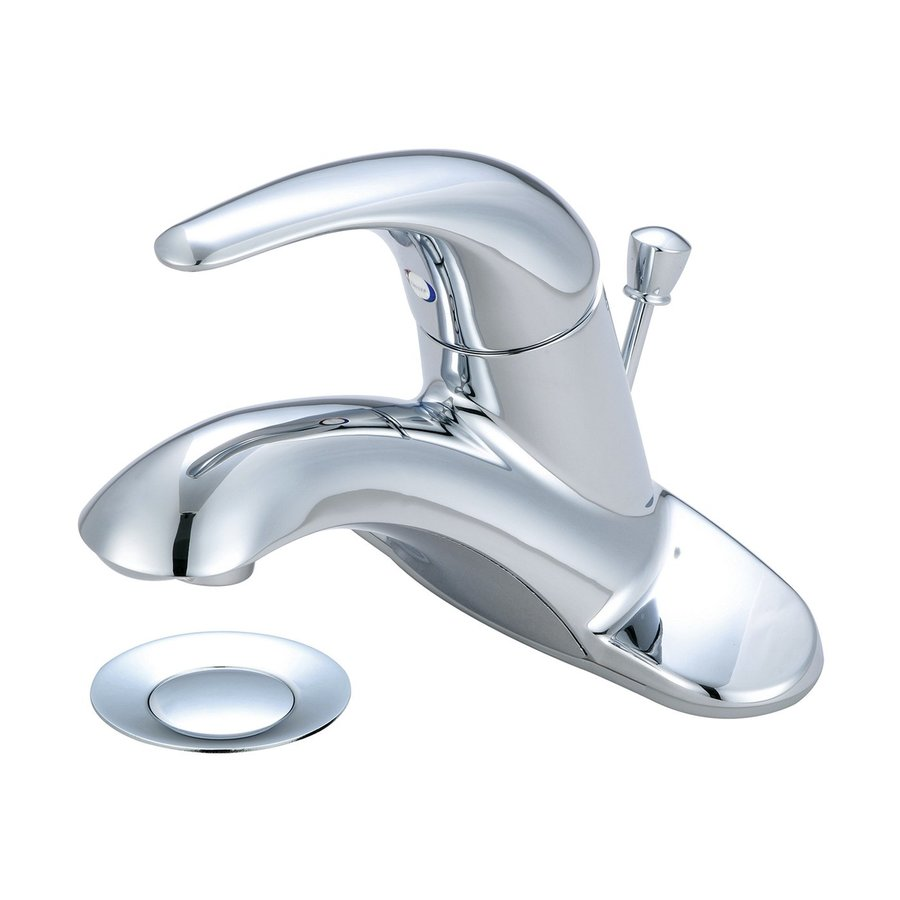 Pioneer Industries Legacy Polished Chrome 1-Handle 4-in Centerset Bathroom Faucet (Drain Included)