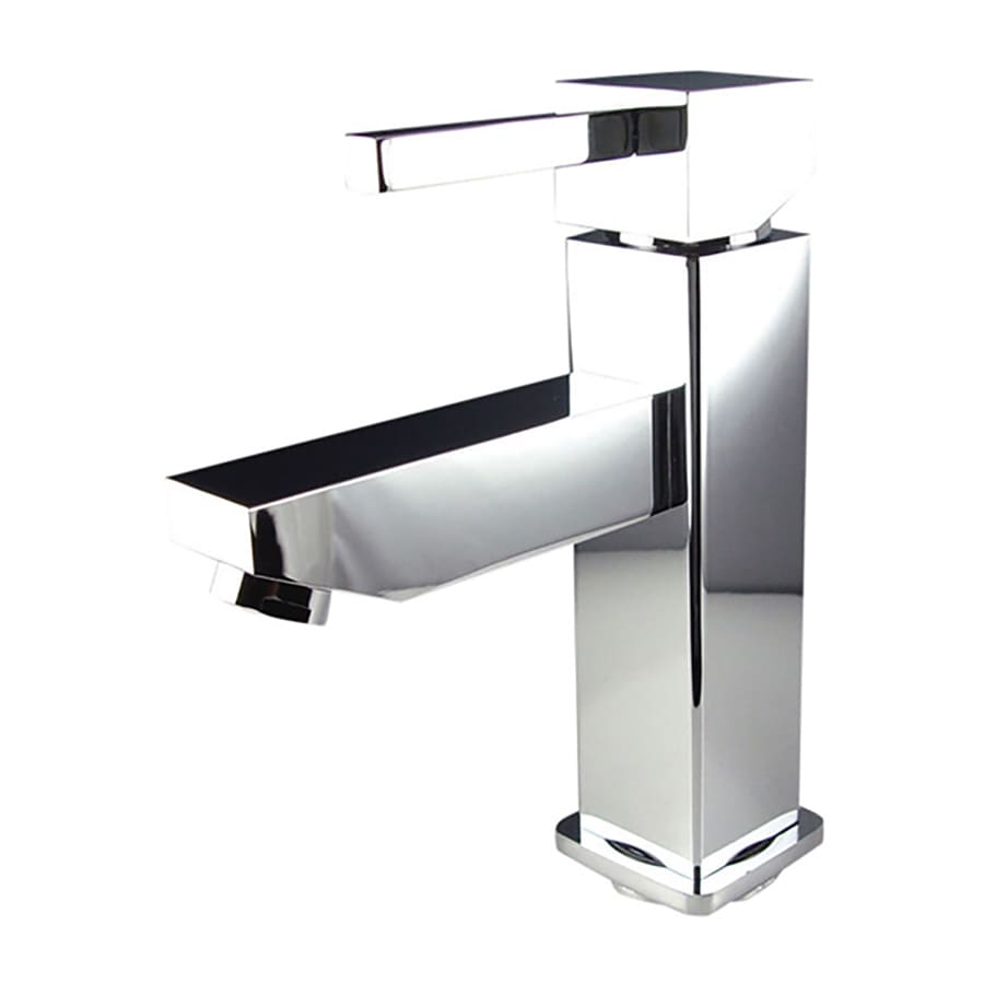Fresca Bevera Chrome 1-Handle Single Hole Bathroom Faucet