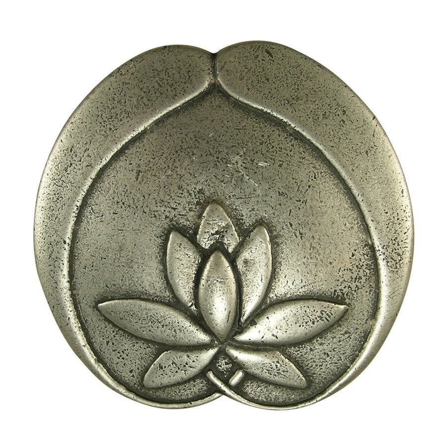 Anne at Home Asian Matte Pewter Novelty Cabinet Knob