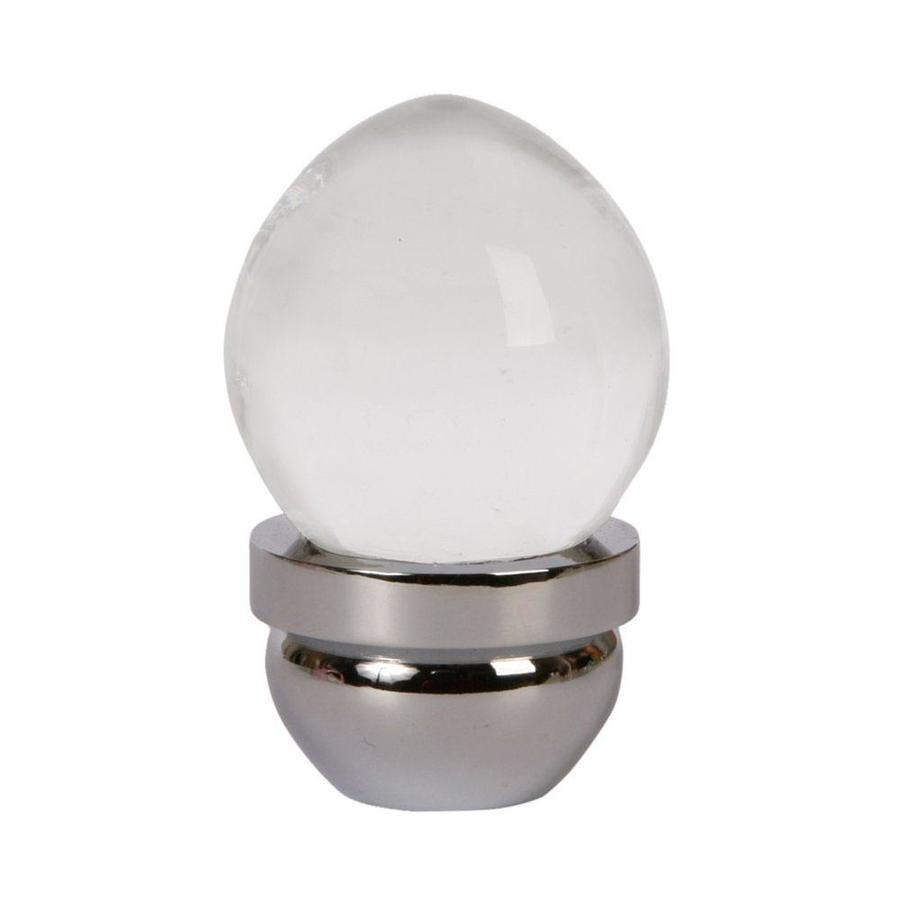 Lew's Hardware 1-in Polished Chrome Acorn Glass Series Globe Cabinet Knob