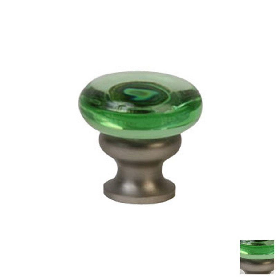 Shop Lew 39 S Hardware Mushroom Glass Brushed Nickel Round Cabinet Knob At L