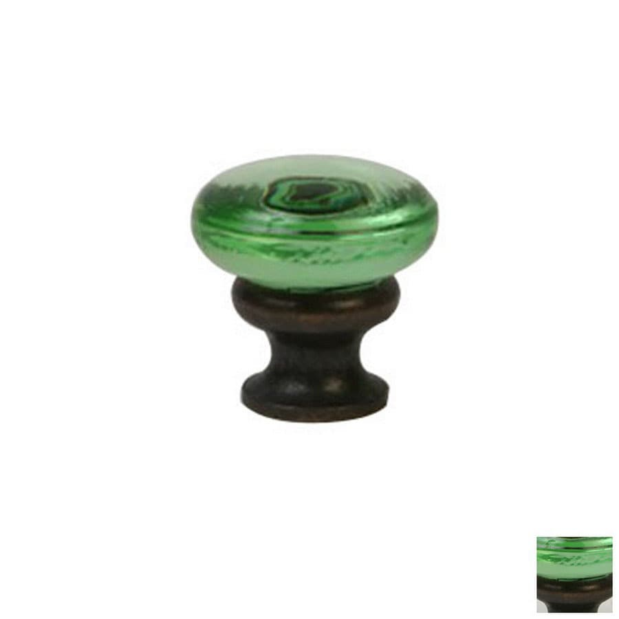 Lew's Hardware Mushroom Glass Oil-Rubbed Bronze Round Cabinet Knob