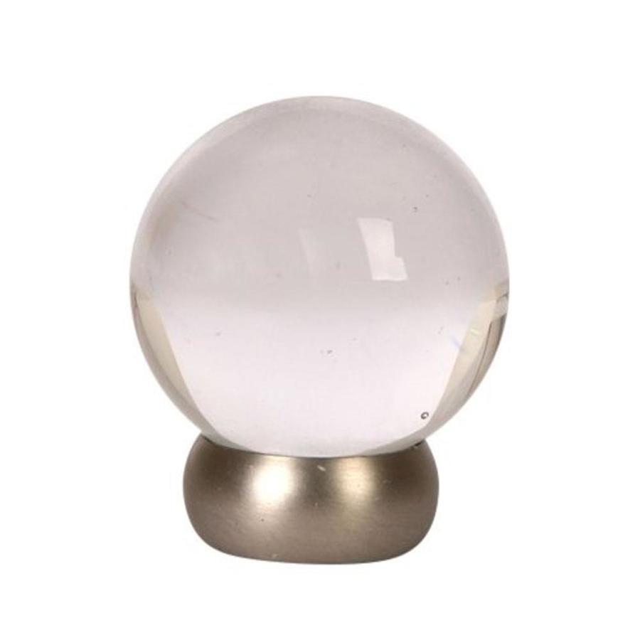 Shop Lew 39 S Hardware 1 1 8 In Brushed Nickel Glass Ball Series Globe Cabin