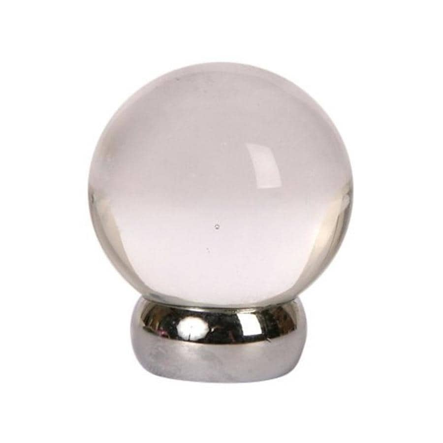 Lew's Hardware 1-1/8-in Polished Chrome Glass Ball Series Globe Cabinet Knob
