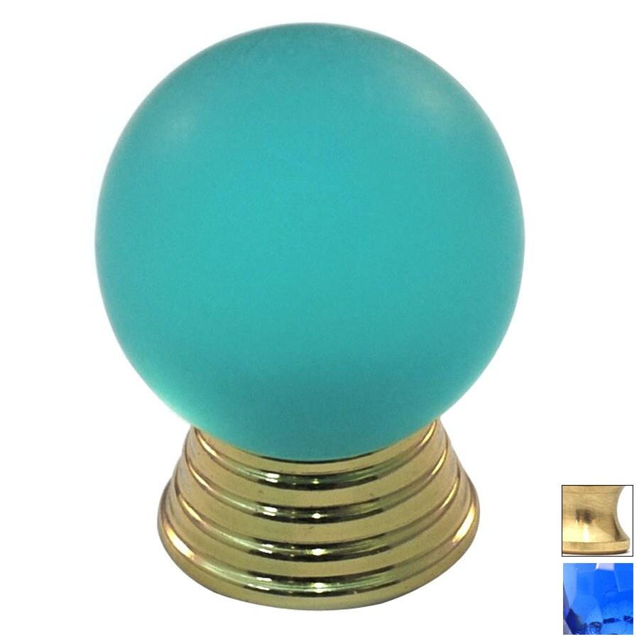 Cal Crystal Polished Brass Athens Globe Cabinet Knob